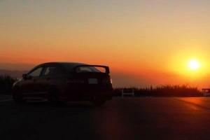 夕日とRR