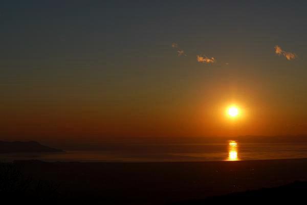 駿河湾・夕日