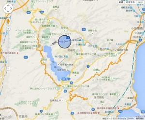 大涌谷半径1キロの地図