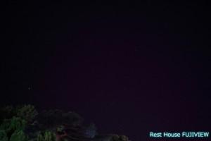 小田原城の夜空